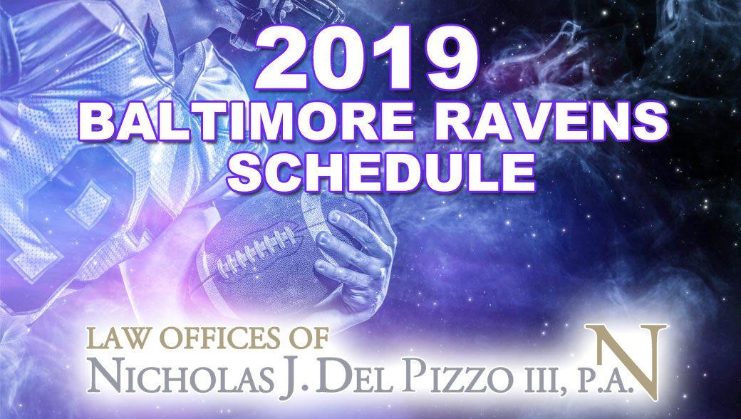 2019 Baltimore Ravens Schedule