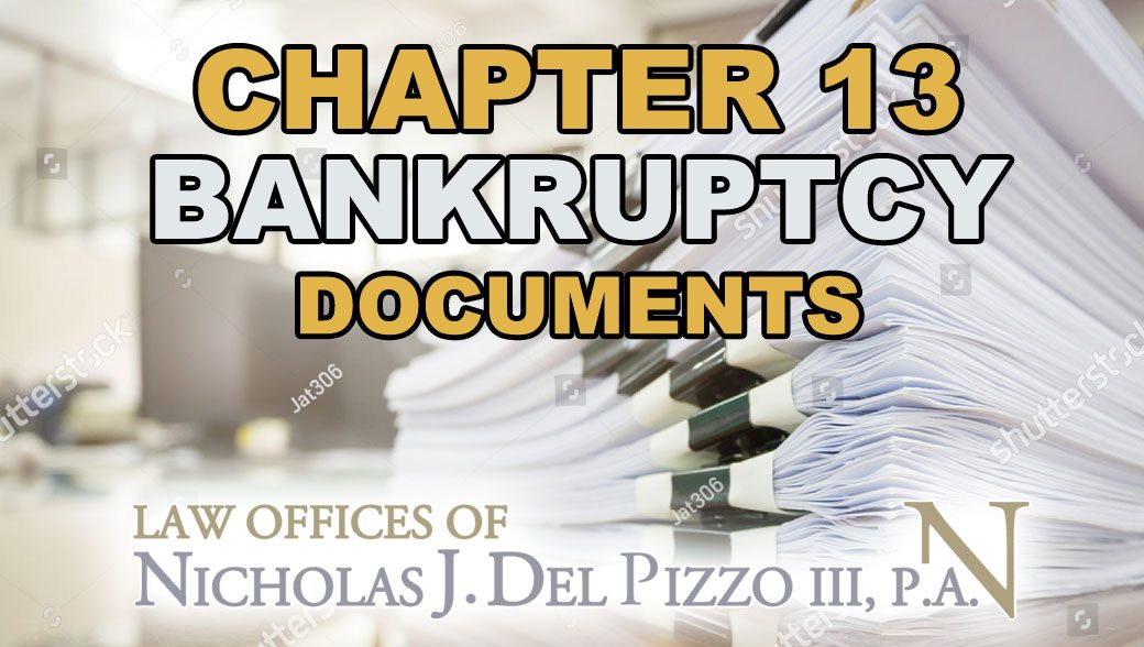 chapter 13 bankruptcy documents