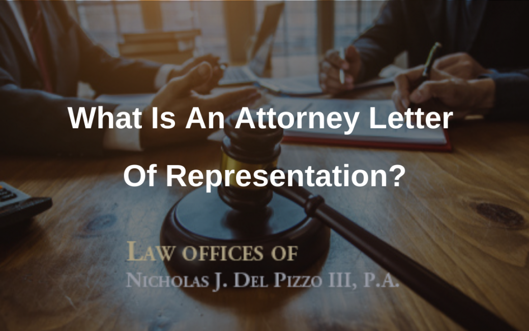 What is an attorney letter of representation