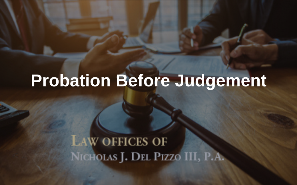 What is Probation Before Judgement